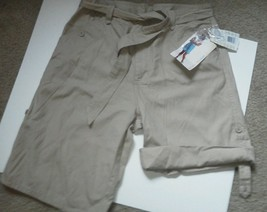 Ladies White Stag Shorts Size 8 Light Tan Beige Convertible Hiking Cotto... - $19.79