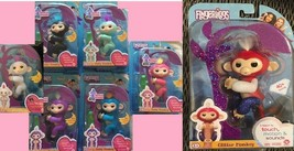 New 7 Fingerlings Monkeys Interactive WowWee authentic includes Liberty - $174.83