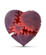 LeLuv Heat Activated Large Heart Gear 3D Printed Twister Mood Toy Color ... - $32.99