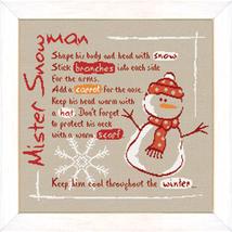 Snowman holiday winter cross stitch chart Lili Points - $11.70
