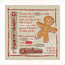 Gingerbread christmas cross stitch chart Lili Points - $11.70