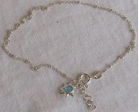 Light blue star silver anklet a thumb155 crop