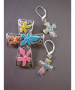 Freebie New Enamel Cross Set Pendant w/Bale Pie... - $0.00
