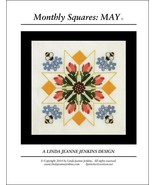 Monthly Squares May cross stitch card chart Linda Jeanne Jenkins - $6.00