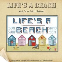 Life's A Beach cross stitch chart Pinoy Stitch - $5.40