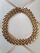 Vintage Modernist Gold Tone Chunky Link Chain Fashion Necklace - $40.00