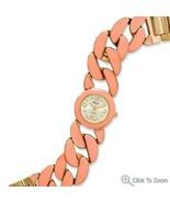 Peach Epoxy Curb Link Fashion Watch - $56.95