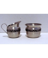 Norsk Tinn Pewter Creamer and Sugar Bowl - $13.99