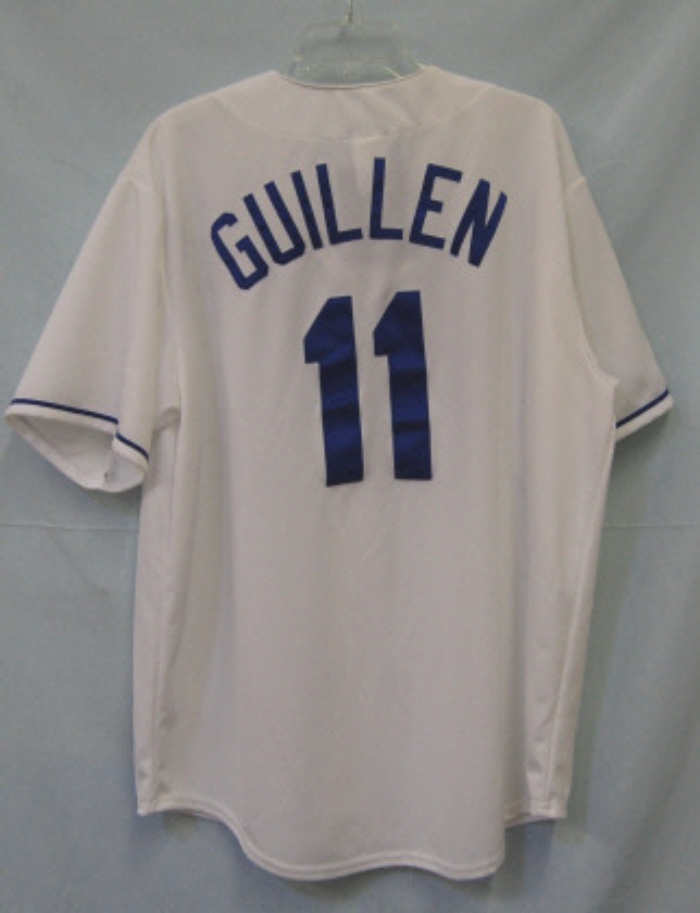 Majestic Royals Guillen Jersey White Blue Adult X Large