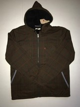 Levi's Men's Brown Plaid Hooded Sherpa Jacket NWT  - $35.00