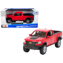 2017 Chevrolet Colorado ZR2 Pickup Truck Red 1/27 Diecast Model Car by M... - $28.33