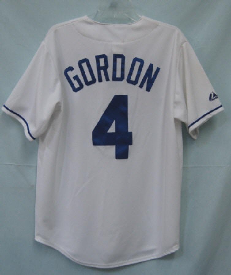 Majestic Royals Gordon 4 Jersey Adult Medium White Blue