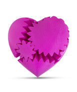 LeLuv Large 3D Printed Heart Gear Twister Brain Teaser Toy Nerd Gift, Pink - $29.99
