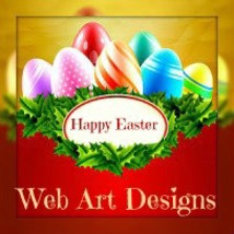 Colorful Easter Egg Banner And Avatar Set ... Exclusive One Of A Kind Set - $7.97