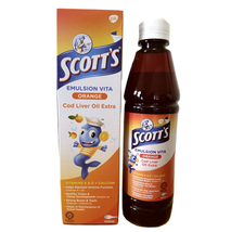 SCOTTS EMULSION COD LIVER OIL ORANGE FLAVOR 400ML For Children FREE SHIP... - $43.89