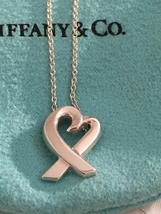 ed0192fd9 Tiffany & Co. Sterling Silver Paloma Picasso Loving Heart Pendant  Necklace - $154.95