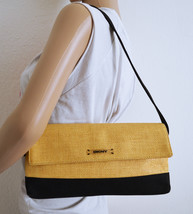 Free Ship DKNY Woven Canvas Purse Small Shoulder Bag - $24.99