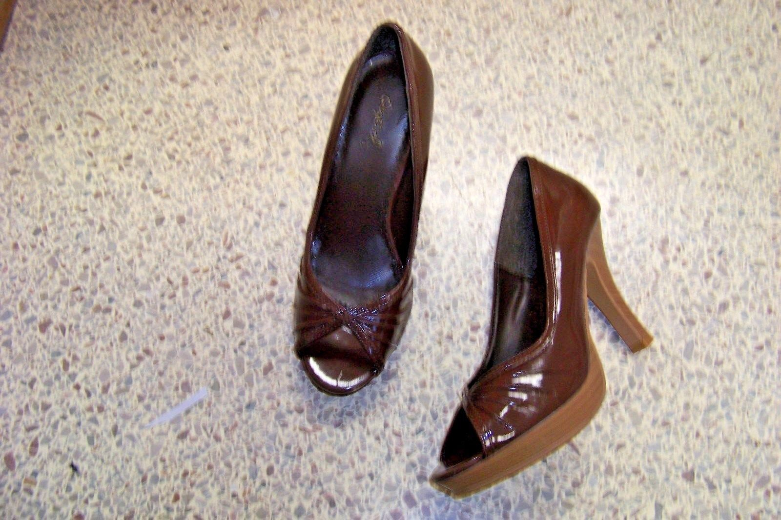 06ed61ca7cb qupid brown patetn open toe heels shoes size and 49 similar items