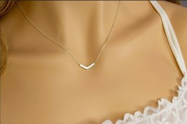 Dainty sterling silver necklace unique handmade 16 inches adjustable - $34.72