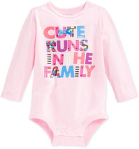 First Impressions Baby Girls' Long-Sleeve Cute Family Bodysuit, Size 12 Months - $8.90