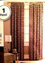 Mainstays Curtain Room Darkening Panel Brick Layered Trellis Maroon 84 Inches - $18.80