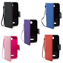 Leather Polybag Vertical Wallet Cover Case Pouch For Alcatel One Touch Fierce 2 - $6.75