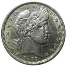 1897 Liberty Barber Head Half Dollar 50¢ Silver Coin Lot# MZ 3151