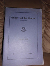 Rare Book Connecticut Bar Journal Est. 1927 January 1936 Volume 10 Number 1 - $17.82