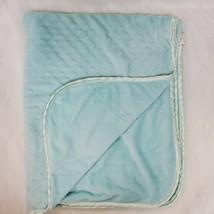 Snuggly Baby Blanket Blue Aqua Minky Dot Boy Plush Security B76 - $34.99