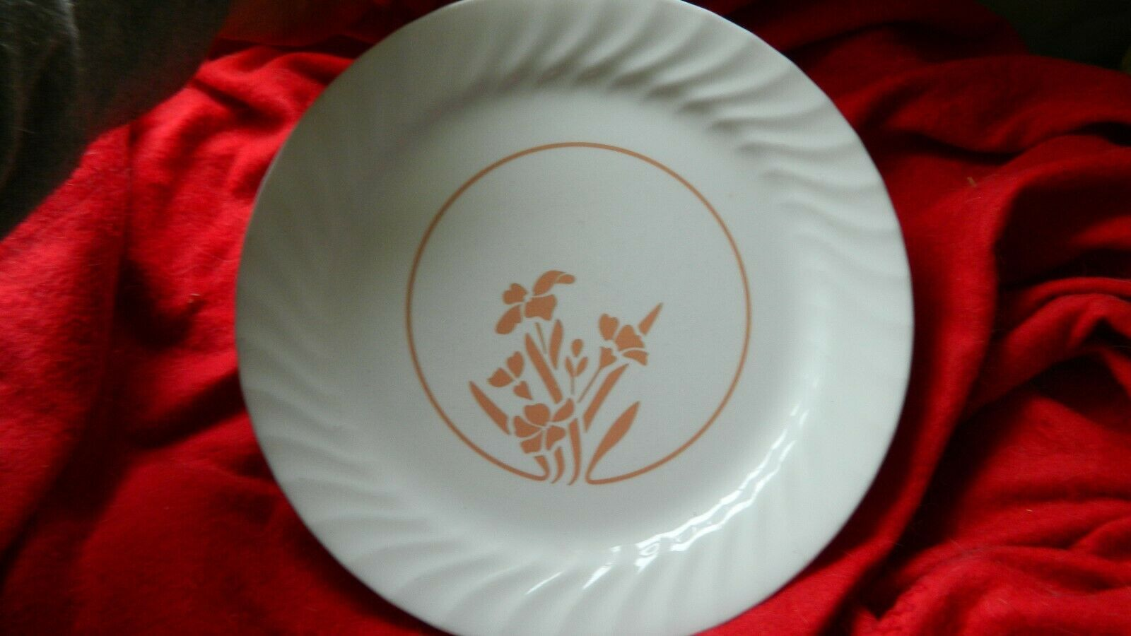 Primary image for CORELLE UNKNOWN PATTERN DINNER PLATES 10.25 IN SET OF FOUR FREE USA SHIPPING