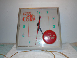 "Vintage Coca Cola 1960's Clock  ""Things Go Better With A Coke"" - $199.99"