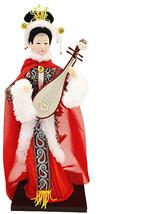 Sunkey 12'' Traditional Nese Art Silk Figurine Doll Statue-Wang Zhao Jun - $56.70
