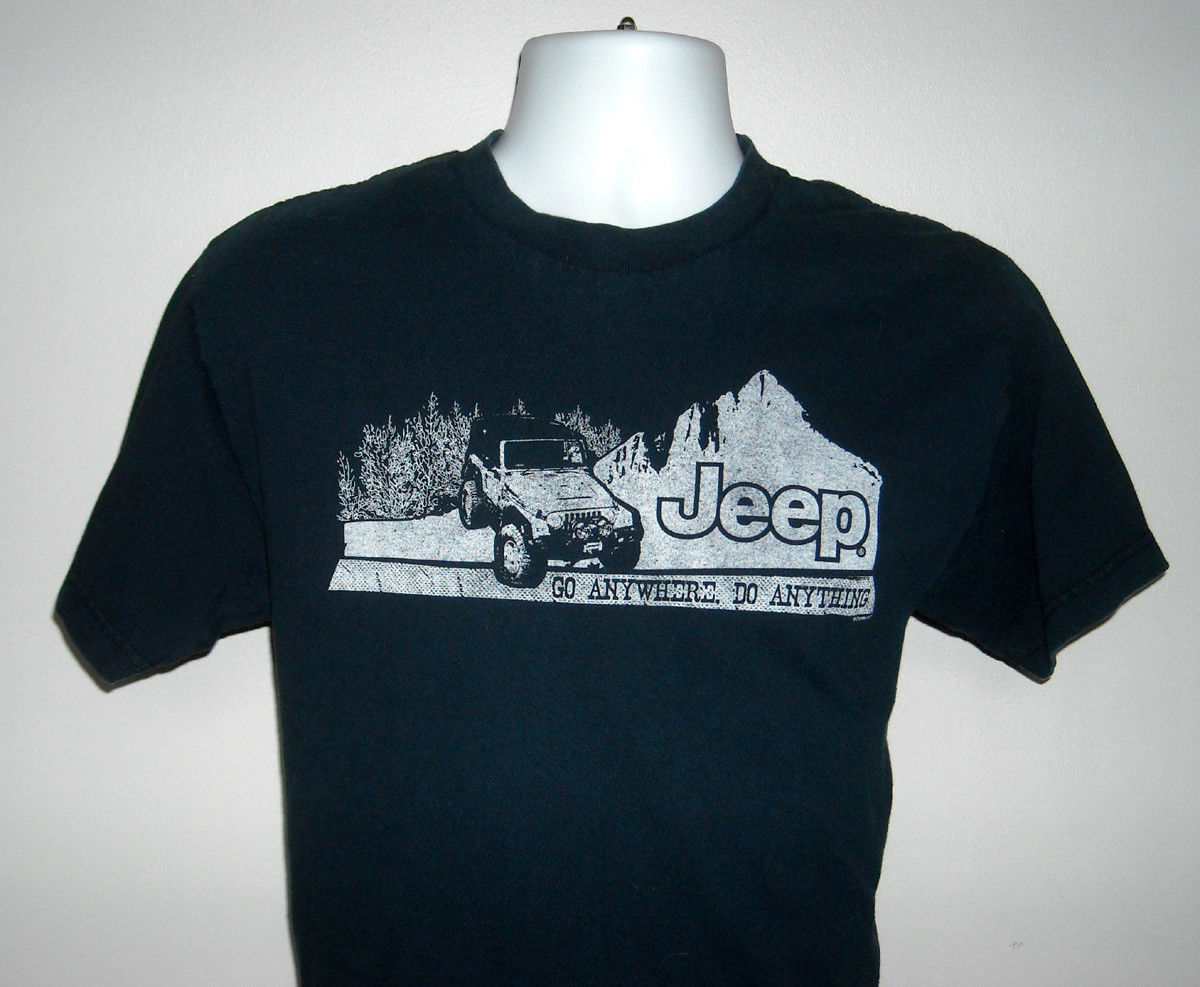 Primary image for MENS JEEP T SHIRT GO ANYWHERE DO ANYTHING MEDIUM NAVY BLUE