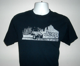 Mens Jeep T Shirt Go Anywhere Do Anything Medium Navy Blue - $22.72