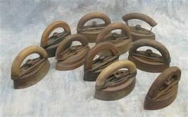 Lot 10 Sad Irons Vintage Steel Cast Iron Colebrookdale Williams Doorstop f - $124.00