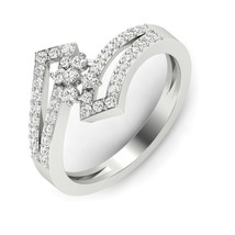 Solid 18Carat White Gold Round Brilliant Cut Diamond Ring Engagement Rin... - $301.08
