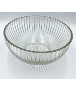 """Large Clear Glass Punch Bowl Ribbed Heavy 12""""  - $14.99"""