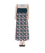 Women's Cartoon Pig Printed Elastic Stretchy Full Length Maxi Skirt Size... - $28.99+