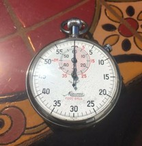 Vintage Minerva Football Stop Watch 7 Jewels Unadjusted Parts Or Repair  - $117.81