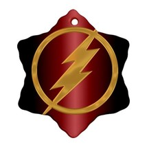 The Flash Procelain Ornaments (Snowflake) Christmas - $6.99