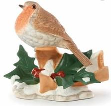 "New in Box Lenox 2019 Annual Robin Figurine Garden Holly 4.25"" Tall - $45.42"