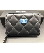 CHANEL Lambskin Zip Around Small Wallet - Black NWT - $751.41