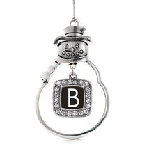 Inspired Silver My Initials - Letter B Classic Snowman Holiday Decoration Christ - $14.69