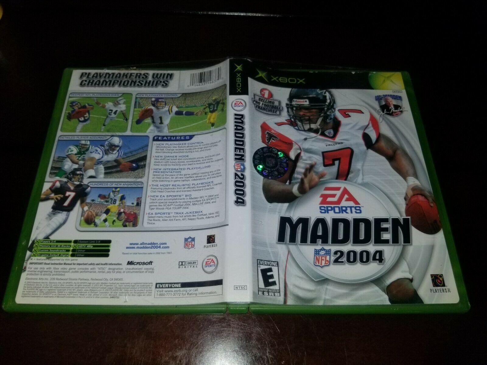 Madden NFL 2004 Microsoft Xbox EXMT **Inv03174**