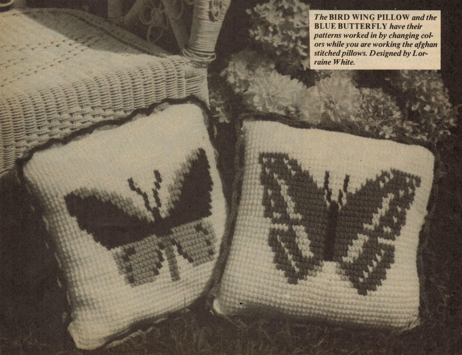 4X Butterfly Table Skirt Mat Pillows Dogwood Pillow Filet Crochet Patterns image 3