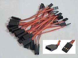 powerday20pcs 10cm 100mm Male to Female JR Plug RC Servo Extension Lead ... - $14.39