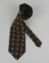 Zylos George Machad Men's Neck Tie Burgundy Brown Geometric Circles 100%... - $19.59