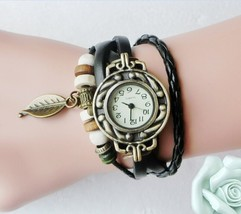 Multicolor High Quality Women Genuine Leather Vintage Quartz Dress Watch... - $11.59