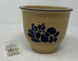 "Pfaltzgraff USA ""Folk Art"" Flower Pot / Crock / Ovoid Gadget Container - Nice! - $11.99"