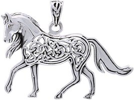 Jewelry Trends Sterling Silver Celtic Horse Pendant - $38.99